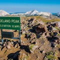 Summit of Delano Peak (12,169 ft).- Best Hikes to See Mountain Goats