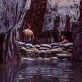 Enjoying secluded serenity in Arizona Hot Springs.- Hot Springing Across Nevada