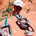 Fixed anchor used for belay and rappel on a summit near Sedona, Arizona.- How to Get Into Rock Climbing and Where to Start