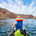 Beginning the paddle into Black Canyon on a perfect day.- The Colorado River Ecosystem