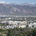 Universal City and the San Gabriel Mountains from Mulholland Drive.- Best Vistas for Fireworks: Los Angeles, CA