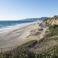 View looking northwest to Westward Beach at Point Dume State Beach.- California's Best Beaches