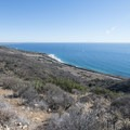 Nicholas Flat Loop: View east from the top of the hike looking down on Nicholas Canyon County Beach.- L.A.'s 15 Best Kid-Friendly Hikes