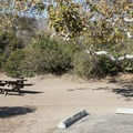 Typical campsite at Leo Carrillo State Park Campground.- A Guide to Camping Near L.A.