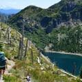 Trail down to Shovel Lake.- Exploring Mount St. Helens