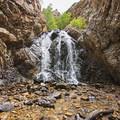 Enjoying the falls in Heughs Canyon.- Heughs Canyon Trail