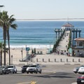 Manhattan Beach and Pier from Manhattan Beach Boulevard.- Surfer's Guide to LA
