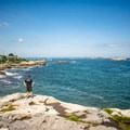 Enjoy sweeping ocean views at Castle Rock in Marblehead.- Incredible Coastal Adventures in Massachusetts