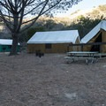 Platform tents at Hermit Gulch Campground.- A Guide to Camping Near L.A.