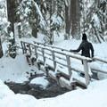 Short bridge over East Fork Hood River on the way to Tamanawas Falls.- 52 Week Adventure Challenge: Snowventure