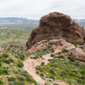 Large boulder just off of the Treasure Loop Trail.- 6 Superstition Mountain Hikes You Won't Want to Miss