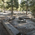 Typical site at Deer Flat Group Campground.- Guide to Camping and Hiking in Crystal Lake Recreation Area