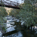 West Fork San Gabriel River at West Fork Day Use Area.- Guide to Camping and Hiking in Crystal Lake Recreation Area
