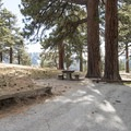 Typical campsite at Table Mountain Campground.- Best Camping Near L.A.