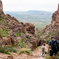 The descent is a challenge as well.- 6 Superstition Mountain Hikes You Won't Want to Miss