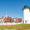 Nobska Lighthouse and keeper's house.- Guide to East Coast Lighthouses