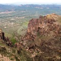 Dramatic geology on Flatiron Mountain.- Superstition Mountain Hikes You Won't Want to Miss