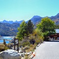 Lake Sabrina boat landing.- California's Best Lake Camping