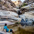 Seven Falls near Tucson flows during only part of the year.- Arizona Swimming Holes
