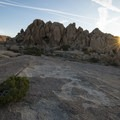 Sunrise at Jumbo Rocks Campground.- Guide to Camping in Joshua Tree National Park