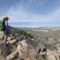 Looking out west from the Ryan Mountain Trail.- Guide to Hiking in Joshua Tree National Park