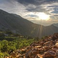 Wasatch views under a sunset.- 6 Days of Adventure in Utah's Wasatch Mountains