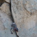 Climber on Intersection Rock's north face in Joshua Tree National Park.- 100 Incredible Adventures in Our National Parks
