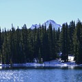 Demaris Lake and Broken Top (9,175') in fall.- Oregon's 60 Best Lakes for Summer