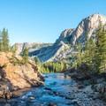 The sun setting over the Tuolumne River at Glen Aulin.- Yosemite National Park