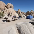 Typical campsite at White Tank Campground.- A Guide to Camping in the Mojave Desert