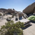 Typical campsite at White Tank Campground.- Joshua Tree National Park