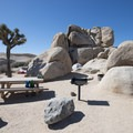 Typical campsite at Belle Campground.- Guide to Camping in Joshua Tree National Park
