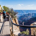 A beautiful bridge to reach the overlook at Bright Angel Point.- Grand Canyon National Park's 10 Best Day Hikes