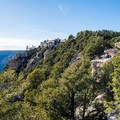 The North Rim Grand Canyon Lodge as seen from Bright Angel Point.- Grand Canyon National Park's 10 Best Day Hikes