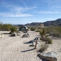 Typical campsite at Indian Cove Campground.- Guide to Camping in Joshua Tree National Park