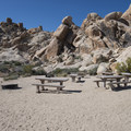 Group campsite at Indian Cove Campground.- Guide to Camping in Joshua Tree National Park