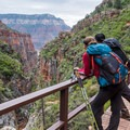 Gazing from the Redwall Bridge along North Kaibab Trail.- Grand Canyon National Park's 10 Best Day Hikes
