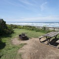 Beachside campsite at Tillicum Beach Campground.- A Guide to Camping on the Central Oregon Coast