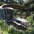 One of two yurts at Beachside State Recreation Site Campground.- Underused Gems of the Oregon Coast