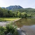 Slollicum Peak behind Lakeside Campground.- Sasquatch Provincial Park