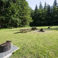 Open campsites at Bench Campground.- Sasquatch Provincial Park