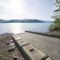 Boat ramp at Green Point Day Use Area.- Sasquatch Provincial Park