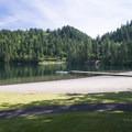 Swimming beach at Entrance Bay Day Use Area.- Cultus Lake Provincial Park