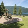 Playground at Entrance Bay Day Use Area + Swim Beach.- Cultus Lake Provincial Park
