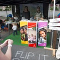 Hi-Tec booth and games at the 2016 Portland Summer Solstice Block Party.- Outdoor Project's Vancouver Block Party 2017