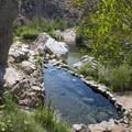 Upper pool at Deep Creek Hot Springs.- Guide to Silverwood Lake Recreation Area