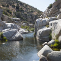 Swimming hole in Deep Creek Canyon at Deep Creek Warm Springs.- 10 Great Hikes in the San Bernardino Mountains