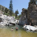Aztec Falls swimming hole.- Guide to Silverwood Lake Recreation Area