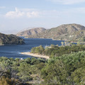 View north to Silverwood Lake from Highway 138.- Guide to Silverwood Lake Recreation Area