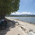 Swim beach and picnic area at East Public Boat Launch on Big Bear Lake.- 3-day Itinerary for Big Bear Lake, California